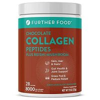 Further Food Collagen Peptides Protein Powder, Dark Chocolate | Boosted with Superfoods | Grass-Fed, Pasture-Raised, Keto, Paleo, Sugar Free