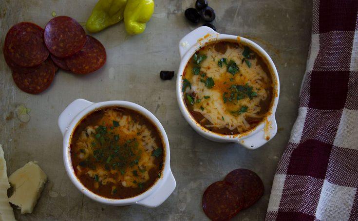 Low Carb Pizza Soup