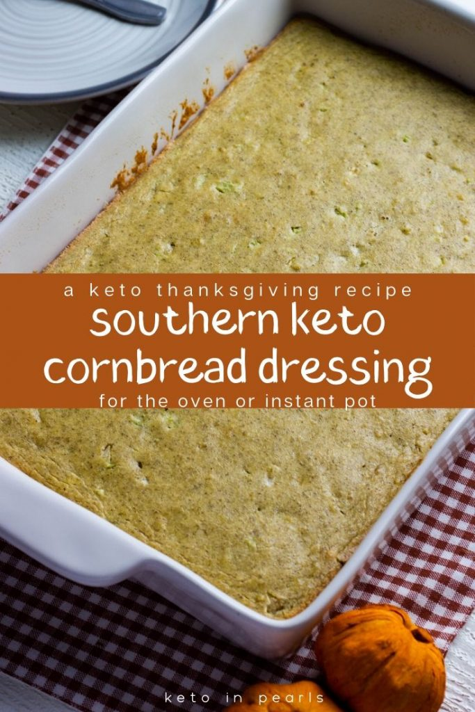 The best side dish for your keto Thanksgiving table is this southern keto cornbread dressing. It's so good it'll fool the biggest carb lover in your family! Just one bowl and one bake required. Only 5 net carbs per serving too!